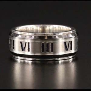 Tiffany & Co. Sterling 925 and Titanium Atlas Ring